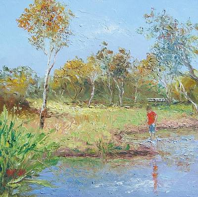 By The Creek Poster by Jan Matson
