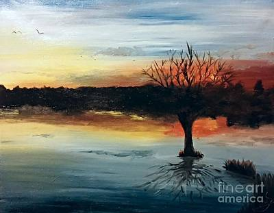 By The Lake Poster by Isabella F Abbie Shores FRSA
