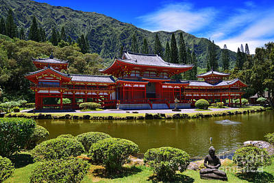 Byodo-in Temple On The Island Of Oahu Hawaii Poster