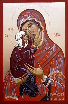 Byzantine Icon St Ana Poster by Sasho  Blazheski