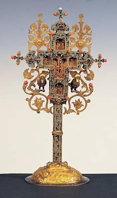 Byzantine Work, Benedictory Cross, 16th Poster by Everett