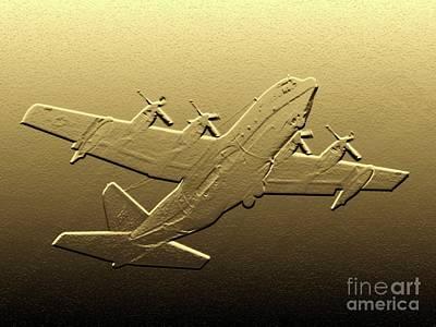 C-130 Hercules - Digital Art Poster by Al Powell Photography USA