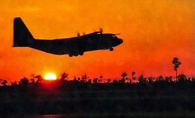 C-130 Sunset Poster