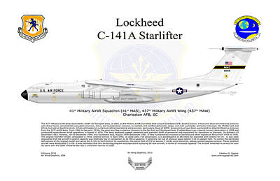 C-141a Starlifter 41st Mas Poster by Arthur Eggers