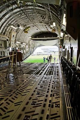 C-17 Globemaster Cargo Bay Poster by Mark Williamson