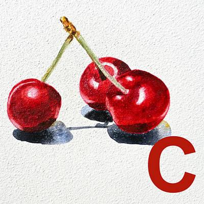 C Art Alphabet For Kids Room Poster by Irina Sztukowski