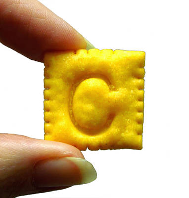 C For Cheese Cracker Poster by Pete Trenholm