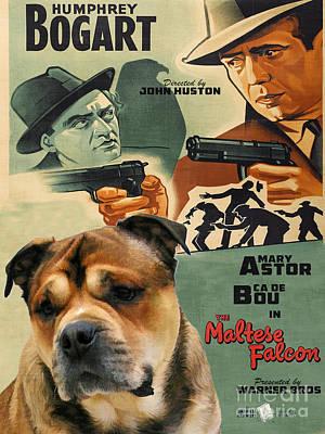 Ca De Bou - Majorca Mastiff Art Canvas Print - The Maltese Falcon Movie Poster Poster by Sandra Sij