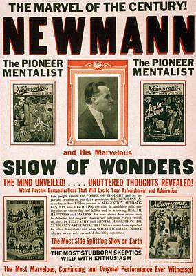C.a. George Newmann, American Hypnotist Poster