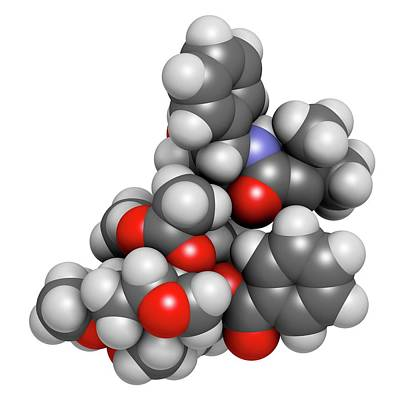Cabazitaxel Cancer Drug Molecule Poster by Molekuul