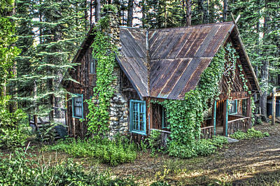 Cabin At Cooks Station Poster by SC Heffner