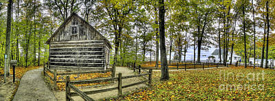 Cabin At Old Mission Lighthouse Poster by Twenty Two North Photography