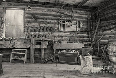 Rustic Cabin Interior Poster by Juli Scalzi