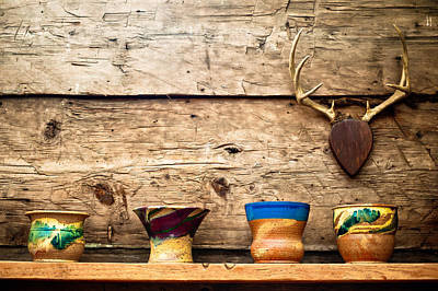 Poster featuring the photograph Cabin Pottery by Crystal Hoeveler