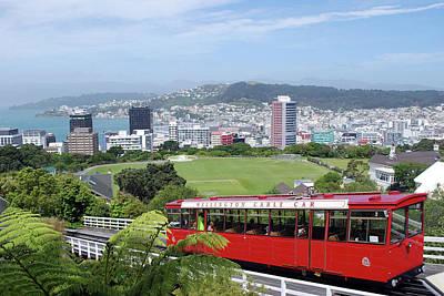 Cable Car, Wellington, New Zealand Poster by Lynn Seldon