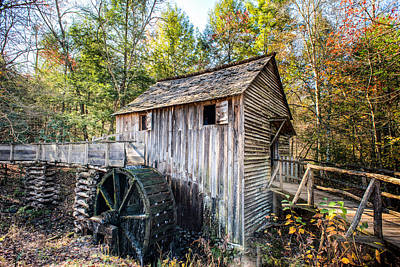 Cable Grist Mill At Cades Cove Poster