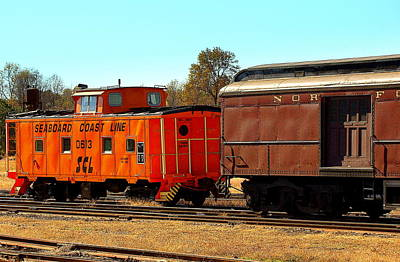 Caboose And Car Poster