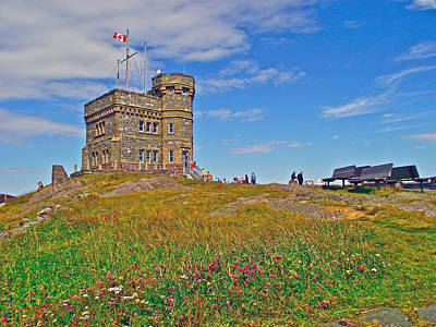 Cabot Tower In Signal Hill National Historic Site In Saint John's-nl Poster by Ruth Hager