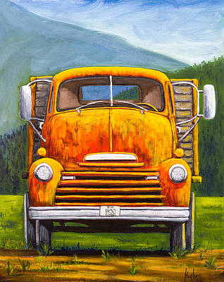 Cabover Truck Poster by Kevin Hughes