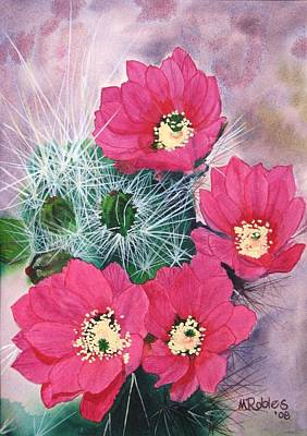 Cactus Flowers I Poster by Mike Robles
