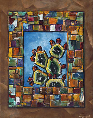Cactus Mosaic Poster