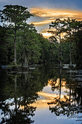 Sunset On Caddo Lake II Poster