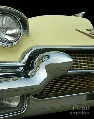 Poster featuring the photograph Caddy Classic Yellow-1 by Cheryl Del Toro