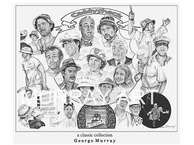 Caddy Shack Collage Poster by George Murray