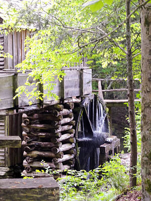 Cades Cove Cable Mill Water Wheel Poster