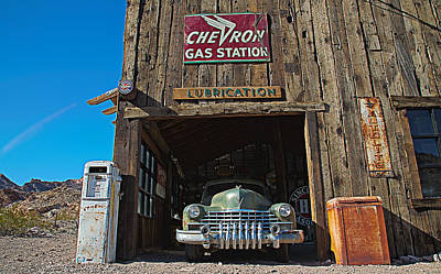Poster featuring the photograph Cadillac In A Chevron Station 5 by James Sage