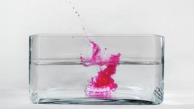 Caesium Reacting With Water (3 Of 5) Poster by Science Photo Library