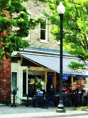 Cafe Albany Ny Poster by Susan Savad