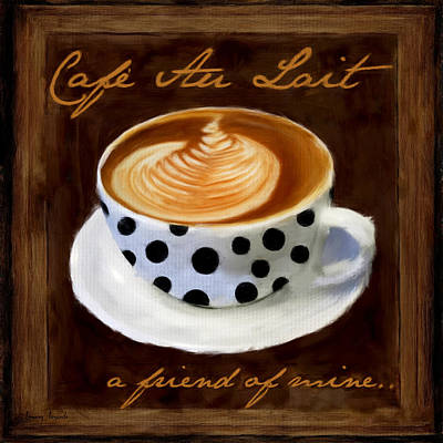 Cafe Au Lait Poster by Lourry Legarde
