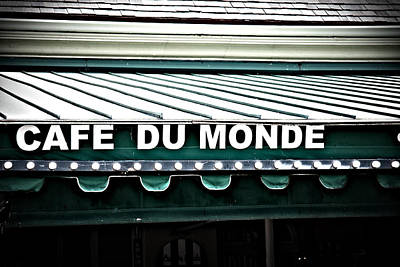 Cafe Du Monde Poster by Gregory Cox