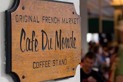 Cafe Du Monde Sign Poster