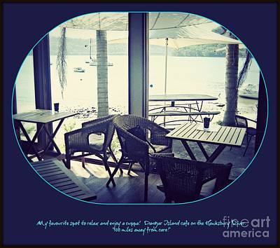 Poster featuring the photograph Cafe On The River by Leanne Seymour