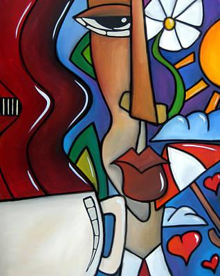 Caffeine Hearts By Fidostudio Poster by Tom Fedro - Fidostudio