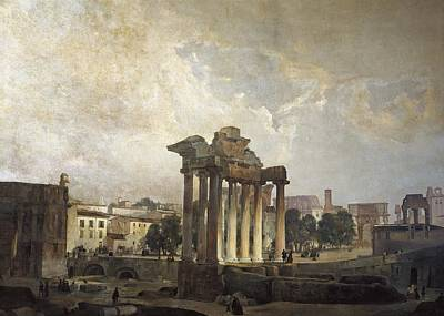 Caffi, Ippolito 1809-1866. The Forum Poster by Everett