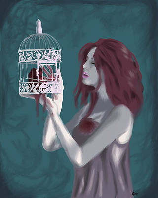 Caged Heart Poster by Stacy Parker