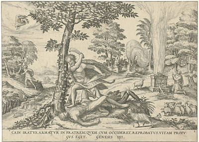 Cain And Abel, Attributed To Symon Novelanus Poster