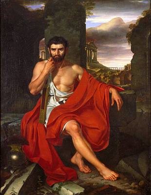 Caius Marius Amid The Ruins Of Carthage Poster by John Vanderlyn