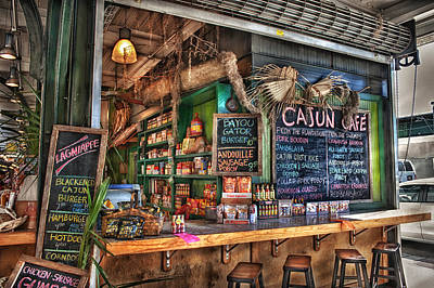 Cajun Cafe Poster by Brenda Bryant