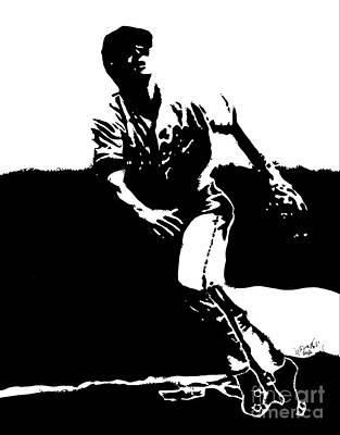 Cal Ripken Jr. Drawing Poster by Rob Monte