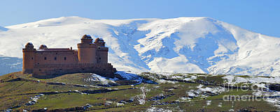 Calahorra Castle 1509 And Sierra Nevada Poster by Guido Montanes Castillo