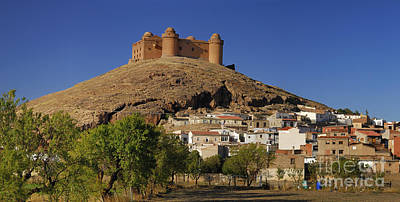 Calahorra Castle And Village Year 1509  Poster by Guido Montanes Castillo