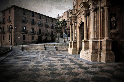 Calahorra Cathedral And Palace Poster