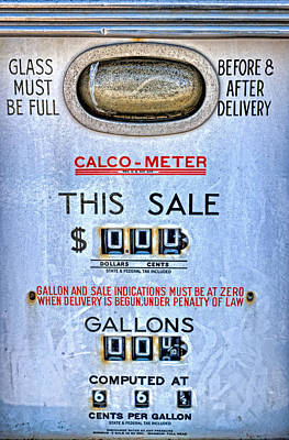 Calco Meter Vintage Gas Pump Poster by Leah McDaniel