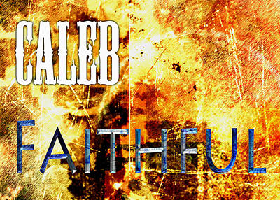 Caleb - Faithful Poster by Christopher Gaston