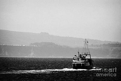 Caledonian Macbrayne Mv Canna Ferry Sails Off To Ballycastle From Rathlin Island Northern Ireland Poster by Joe Fox