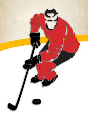 Calgary Flames Rink Poster by Joe Hamilton
